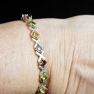 Jewelry - Sterling silver multi gemstone bracelet